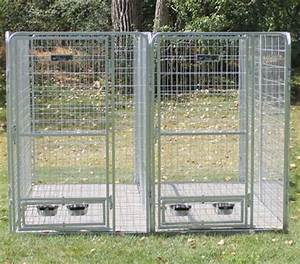 439 x 839 x 639 two dog multiple modular welded wire With extreme dog kennels