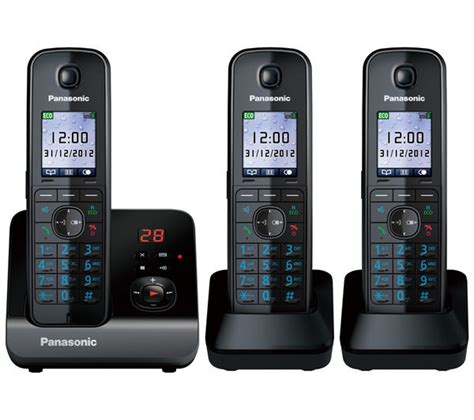 cordless phone with answering machine panasonic kx tg8163eb cordless phone with answering