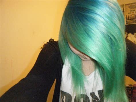 Splat Neon Green And Aqua Rush Green Hair Pinterest