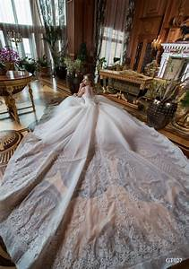 027 Gorgeous Handmade Ball Gown Wedding Dress Decorated By