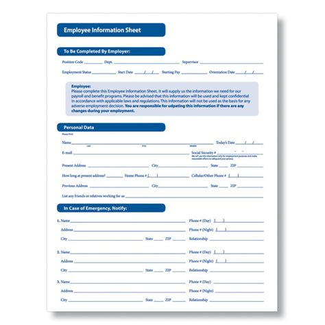 employee information form pdf employee information form new calendar template site