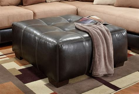large square tufted ottoman large square tufted dark brown bonded leather ottoman