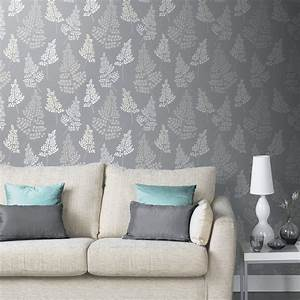Arthouse Vintage Floral Leaf Pattern Wallpaper Embossed ...