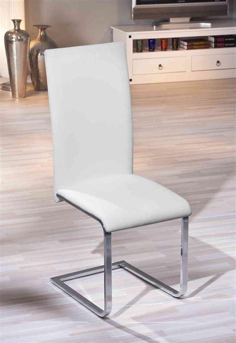 chaise salle à manger design chaises de salle à manger design coloris blanc lot de 2