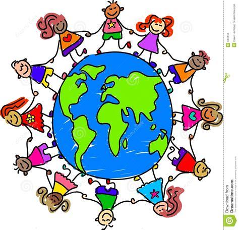 clipart immagini bambini mondo illustrazione vettoriale illustrazione
