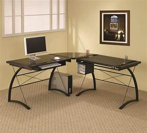 Modern corner computer desk design ideas for home office for Home office home office desk design