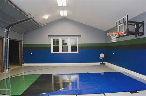 ideas  indoor home basketball courts home design lover