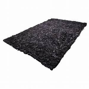 tapis shaggy cuir noir 160x230 With tapis shaggy avec coussin canapé 80x40