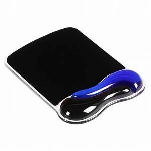 kensington duo gel coloris noir bleu tapis de souris With tapis souris repose poignet gel