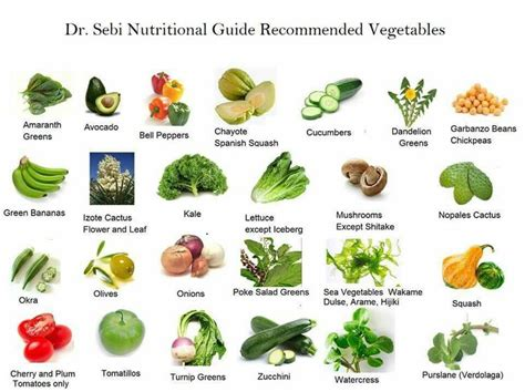 dr cuisine dr sebi approved veggies education