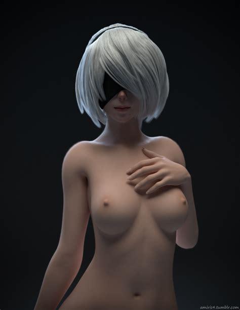 nude yorha 2b [nier automata] by amiris4 kamikazemonk