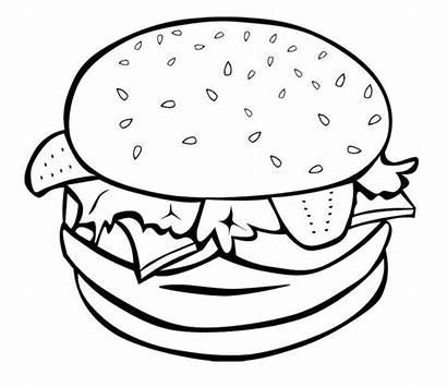 Coloring Junk Pages Hamburger Drawing Easy Printable