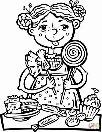 Sweets Children Caramelle Colorare Disegno Bonbon Snack