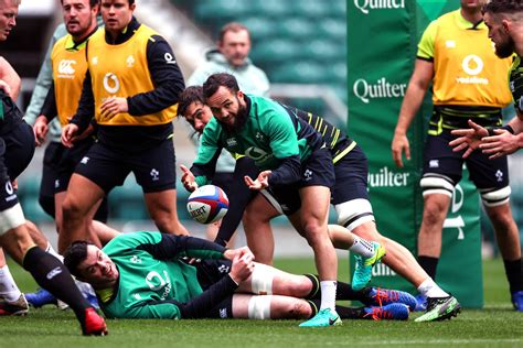 Irish Rugby | Ireland Captain's Run At Twickenham