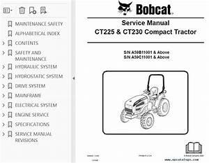 Bobcat Ct225  Ct230 Compact Tractors Service Manual Pdf