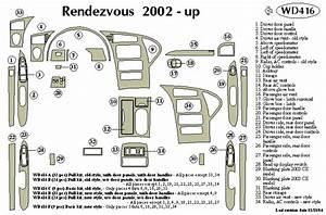 Buick Rendezvous 2002 2003 2004 2005 2006 Dash Trim C
