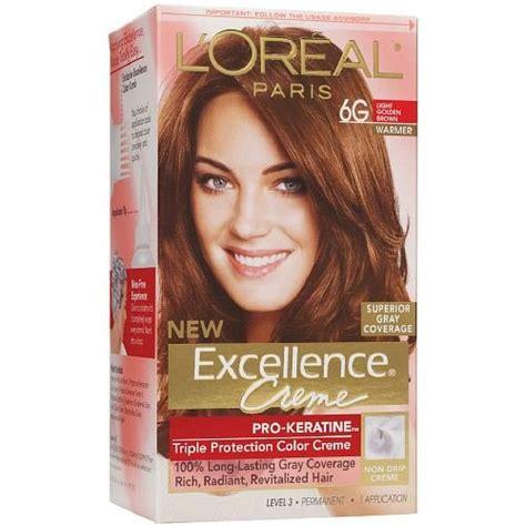 6g hair color l oreal excellence creme haircolor light golden