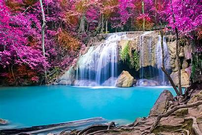Waterfalls Waterfall Nature Wallpapers Backgrounds Natural