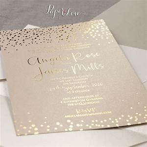gold foil confetti elegant wedding invitation With gold foil wedding invitations etsy