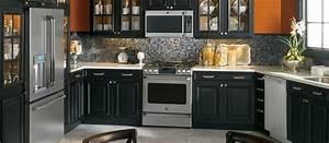 Black And Orange Kitchen Photo Kitchen Design