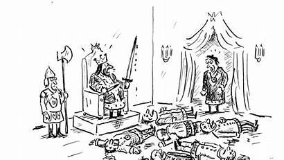 Cartoon Yorker King Death
