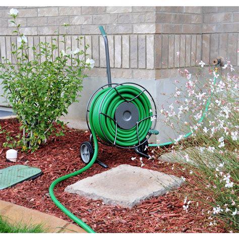yard butler hose reel yard butler compact hose reel 14020101 the home depot 1682