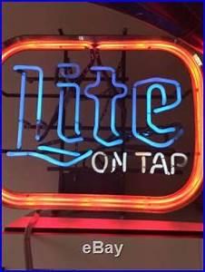 Vintage Miller Lite Tap Neon Sign