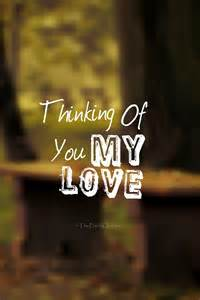 Thinking About You Love Quotes