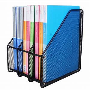 triple magazine rackfile folders document organiser With document rack