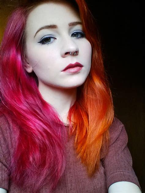 Red Haute Rainbow Hair Color Ideas Popsugar Beauty
