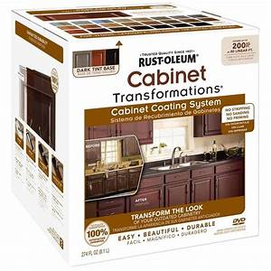 shop rust oleum cabinet transformations dark base satin With kitchen cabinets lowes with rust wall art