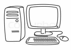 Vector computer on white - Graphic image | Stock Vector ...