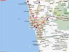 Map of San Diego California - TravelsMaps.Com