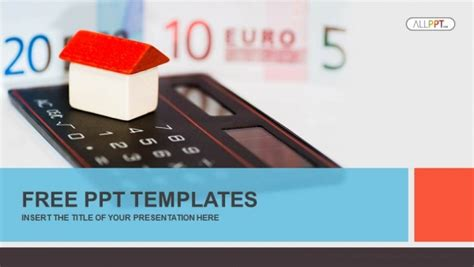 house  calculator  money powerpoint templates