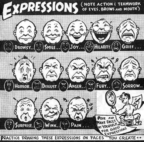 drawing cartoon facial expressions  emotions cartooning