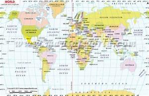 Buy World Map with Latitude and Longitude