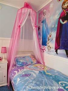 25 best ideas about frozen room decor on pinterest With diy princess bed canopy for kids bedroom