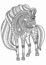 Mandala Coloring Animal Pages Horse Animals Sheets Adults Katesgrove Archives sketch template