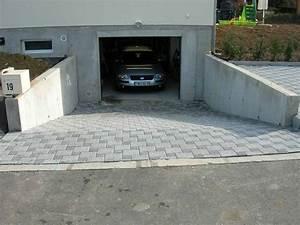 descente de garage en pave gris With comment faire une descente de garage en beton