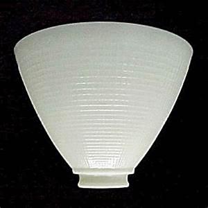 8 in reflector floor table lamp shade ies milk white glass for Floor lamp reflector shade glass