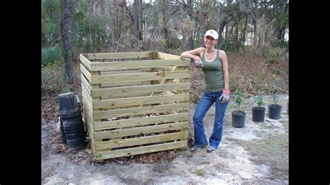 build  easy compost bin youtube