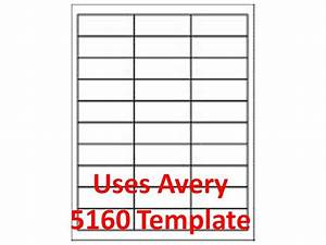 5160 template laser inkjet labels 3000 1quot x 2 5 8 With avery laser labels 5160