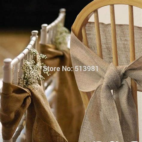 faire un noeud de chaise 50pcs 7 quot 108 quot naturally burlap chair sashes jute