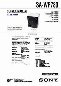 Sony Sa-wp780 Service Manual