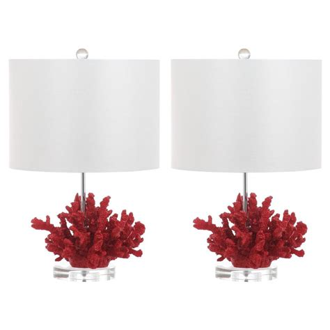 red coral table l safavieh coral reef 21 25 in red table l set of 2