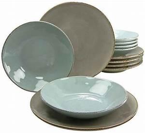 Keramik Geschirr Handgemacht : creatable tafelservice oslo 12 tlg steingut antik look geschirr ~ Frokenaadalensverden.com Haus und Dekorationen