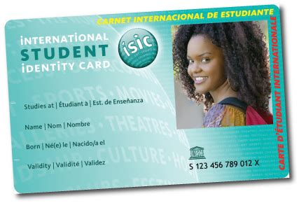 Isic Card Template by Student Travel Fcm Travel Solutions
