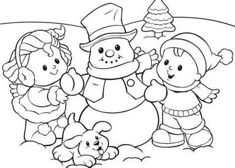 preschool coloring pages winter snowman