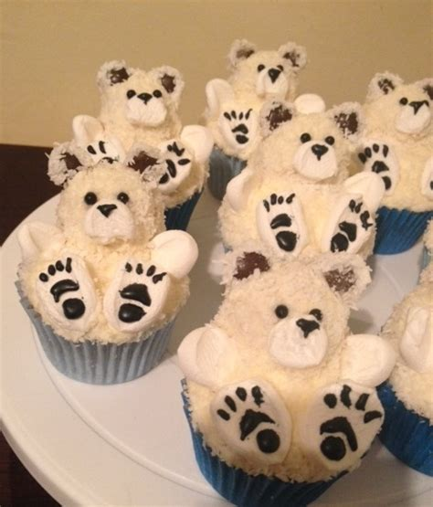 polar bear cupcakes cakecentralcom