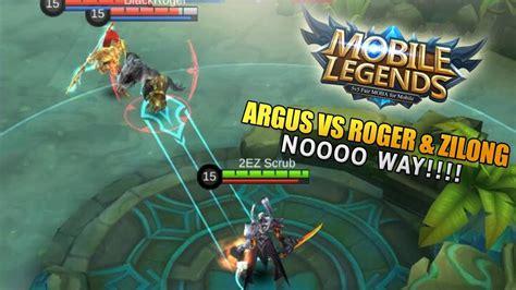 Argus Versus Roger & Zilong (mobile Legends)